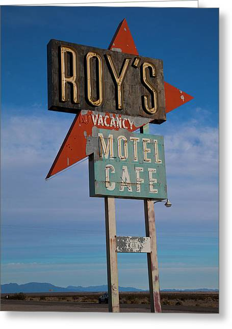 Greeting Card featuring the photograph Roy's Motel Cafe by Matthew Bamberg
