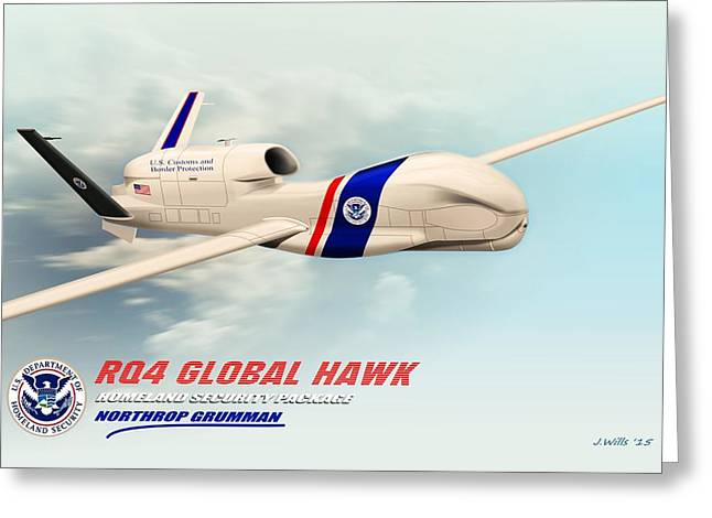 Rq4 Global Hawk Drone United States Greeting Card