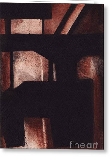 Rt 80 Abstract 5 Greeting Card by Ron Erickson
