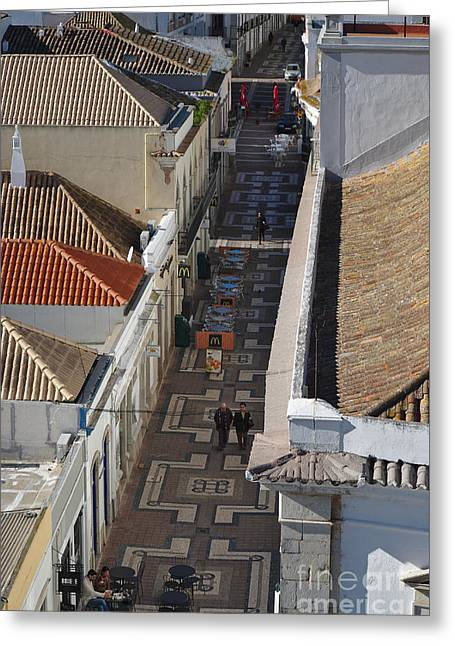 Rua Do Crime In Faro Greeting Card by Angelo DeVal