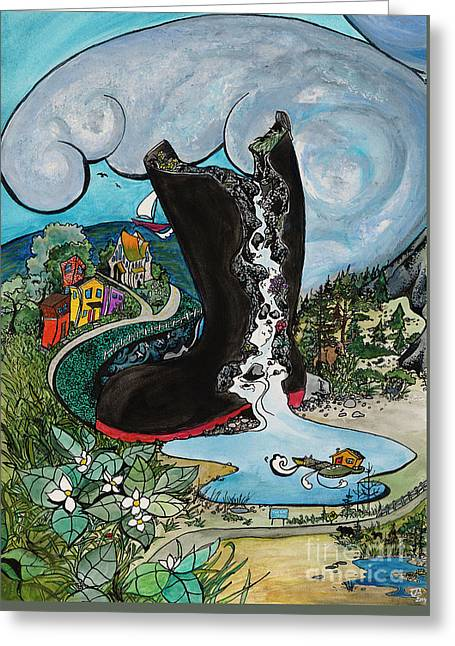 Rubber Boot Greeting Card