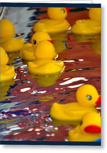 Rubber Duckies Greeting Card by Laura DAddona
