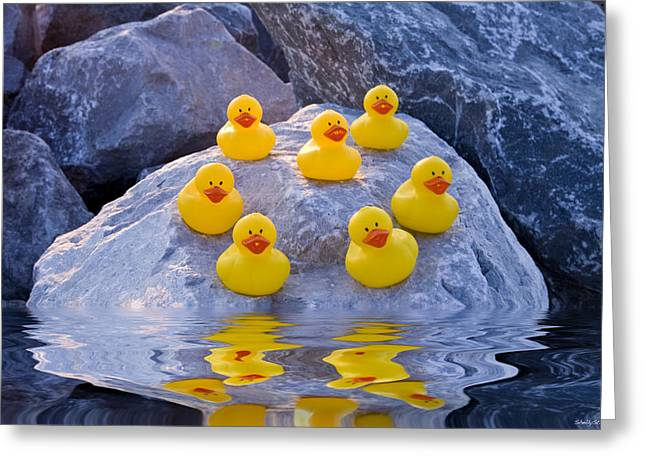 Rubber Ducks In The Wild Greeting Card