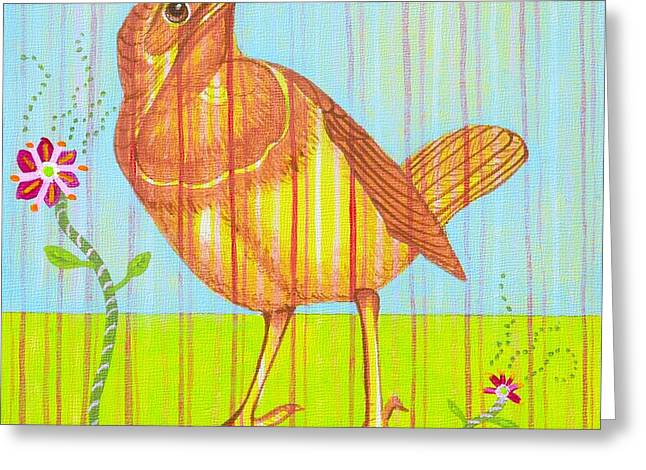 Rubby Greeting Card by Christine Belt