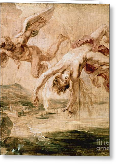 Rubens:fall Of Icarus 1637 Greeting Card by Granger