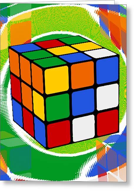 Rubik's Cube 2 Greeting Card