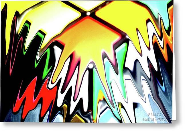 Rubix Splazh Greeting Card by Piety Dsilva