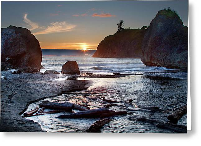 Ruby Beach #1 Greeting Card