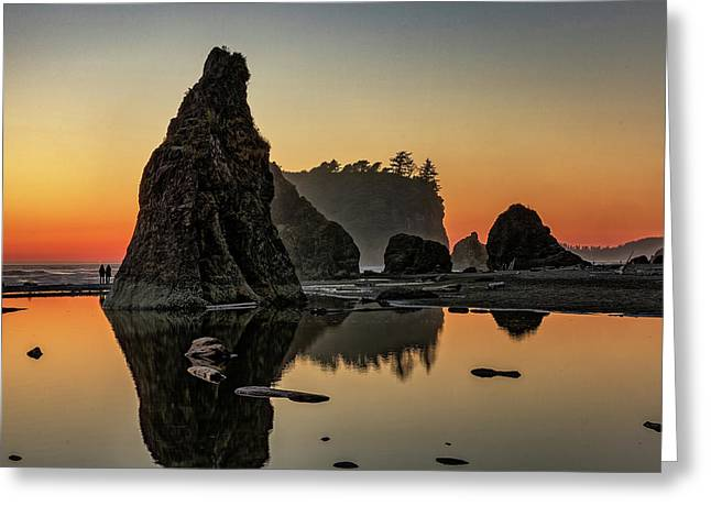 Ruby Beach At Sunset Greeting Card