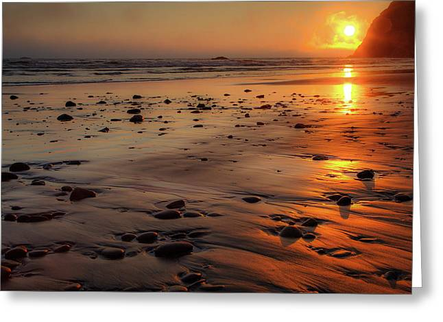 Greeting Card featuring the photograph Ruby Beach Sunset by David Chandler