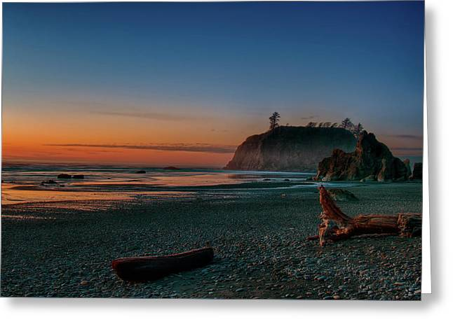 Greeting Card featuring the photograph Ruby Beach Sunset by Mary Jo Allen