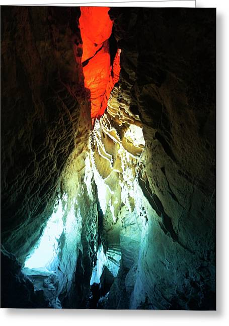 Ruby Falls Cave Greeting Card