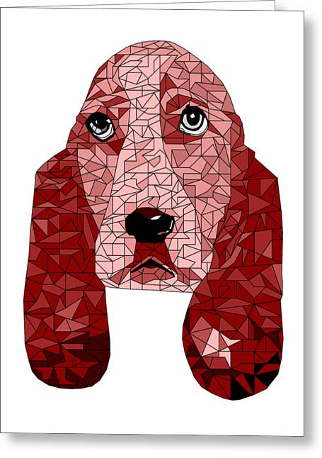 Ruby In Red Greeting Card by David Smith