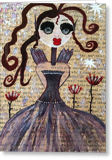 Greeting Card featuring the painting Ruby by Julie Engelhardt