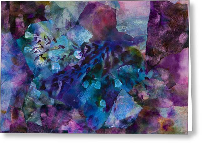 Oil Slick Greeting Cards - Ruby Red Greeting Card by Don  Wright