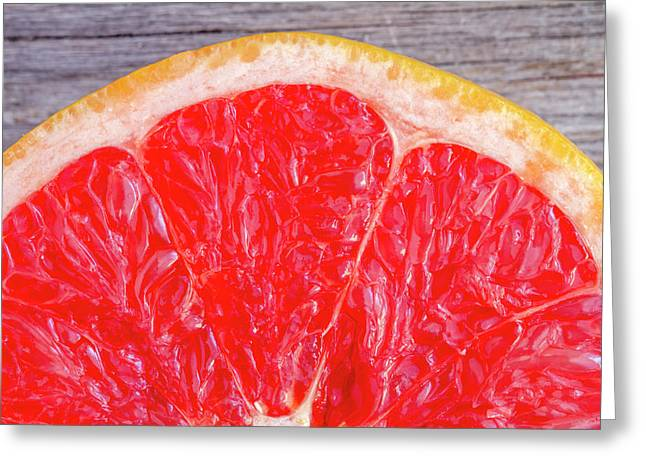 Ruby Red Grapefruit Greeting Card by Teri Virbickis