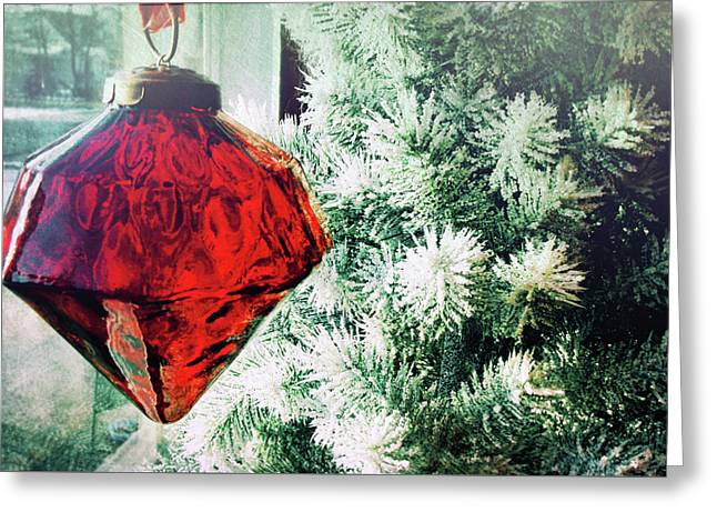 Ruby Red Greeting Card by JAMART Photography