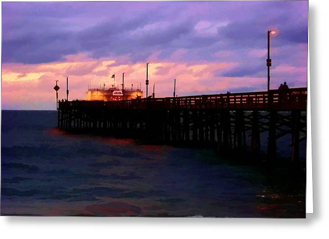 Greeting Card featuring the digital art Ruby's At Dawn by Timothy Bulone