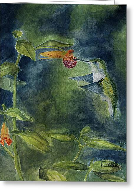 Rubythroated Hummingbird Greeting Card