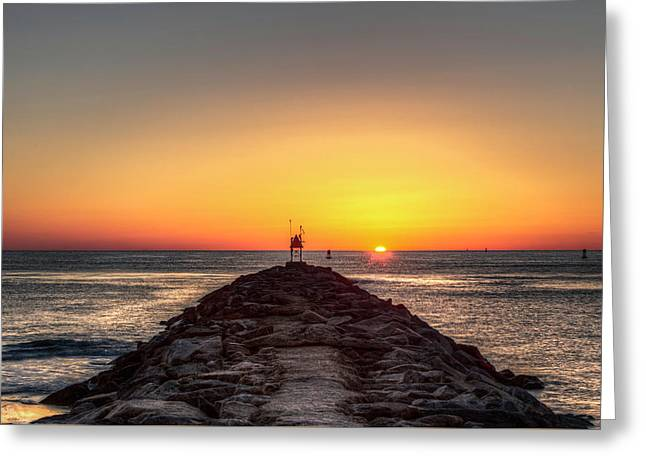 Rudee Inlet Jetty Greeting Card