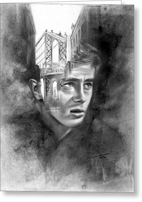 Rudimentary - James Dean Greeting Card by Michael George Escolano