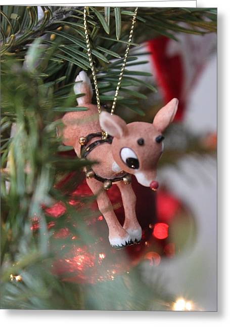 Rudolph Greeting Cards - Rudolph Greeting Card by Maria Freeman