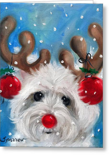 Rudy Greeting Card by Mary Sparrow