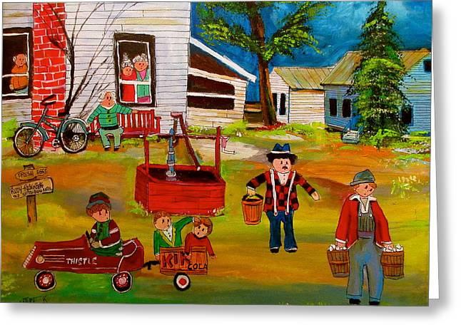 Rudy- Rosenberg Farm New Glasgow Greeting Card by Michael Litvack