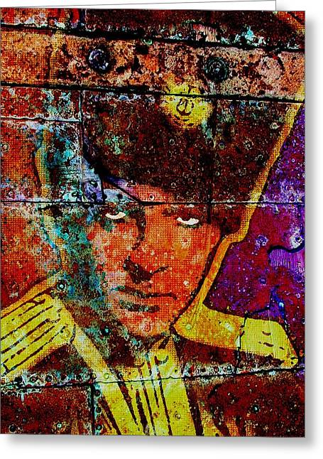 Rudy Valentino Greeting Card by Otis Porritt