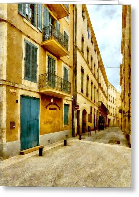 Rue De La Violette Greeting Card by Scott Carruthers