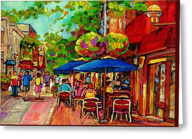 Rue Prince Arthur Montreal Greeting Card
