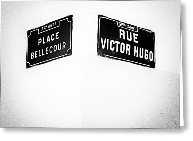 The Corner Of Place Bellecour And Rue Victor Hugo Greeting Card
