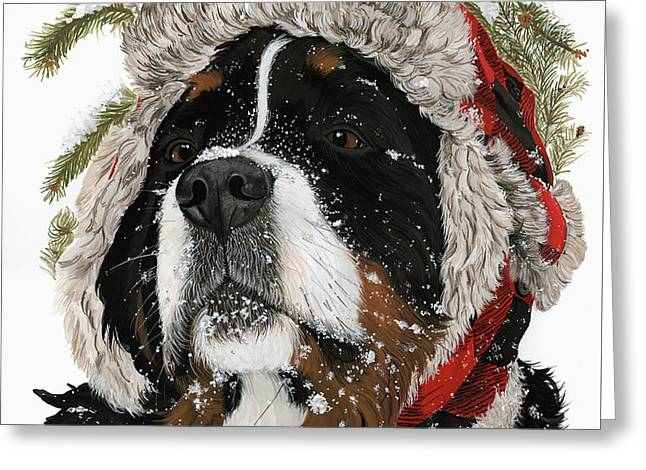 Ruff Winter Greeting Card by Liane Weyers
