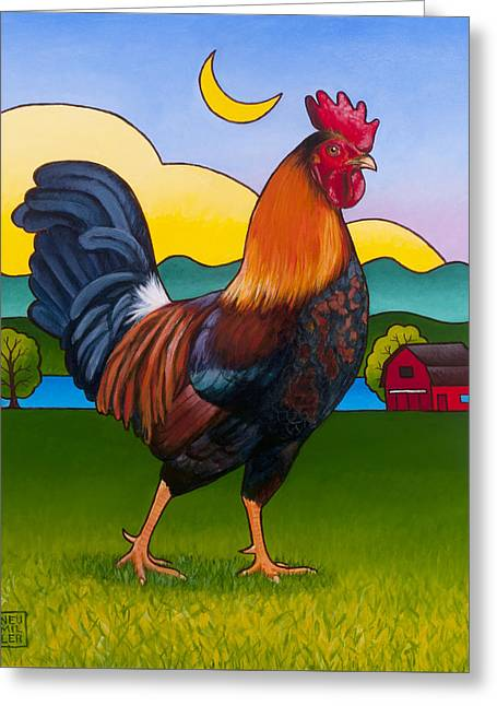 Rufus The Rooster Greeting Card