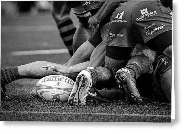 Rugby Greeting Card by Cesar March
