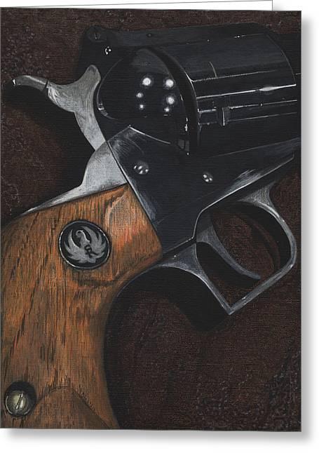Ruger 44 Magnum Super Blackhawk Revolver Greeting Card