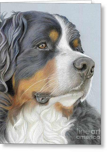Greeting Card featuring the painting Regal And Relaxed by Donna Mulley