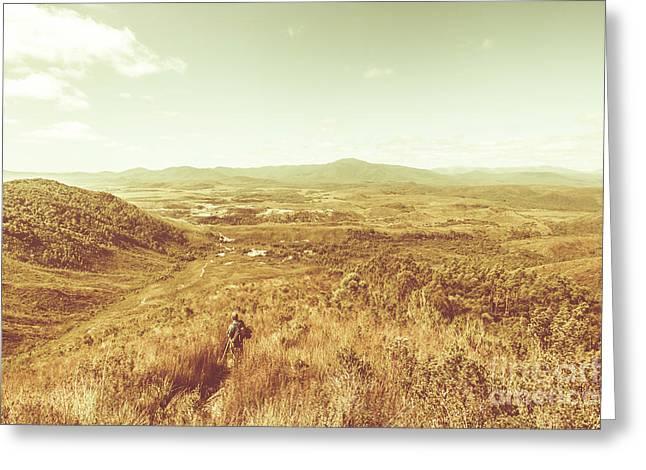 Rugged Bushland View Greeting Card