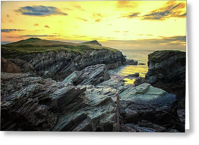 Rugged Coast Greeting Card by Martin Newman