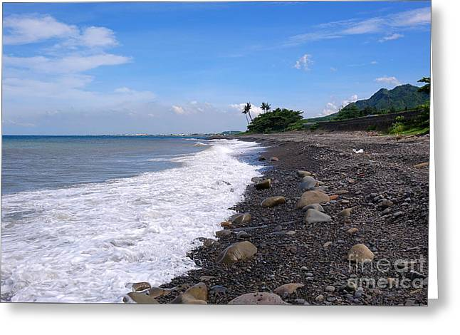 Greeting Card featuring the photograph Rugged Coastline In Taiwan by Yali Shi