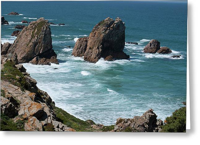 Rugged Coastline - Portugal Greeting Card by Connie Sue White