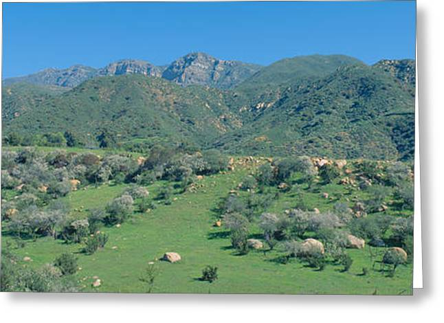 Rugged Hills In Upper Ojai Valley Greeting Card by Panoramic Images