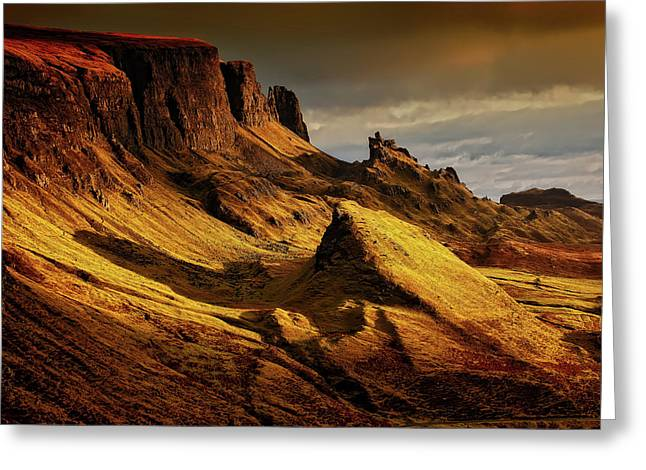 Rugged Isle Of Skye At Sunset Greeting Card by Frank Winkler