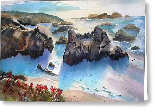 Marin Lovers Coastline Greeting Card
