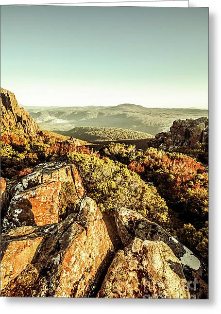 Rugged Mountaintops To Regional Valleys Greeting Card