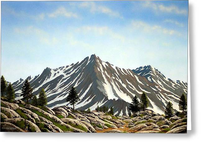 Pacific Crest Trail Greeting Cards - Rugged Peaks Greeting Card by Frank Wilson