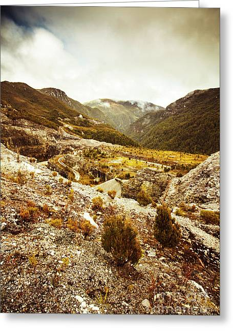 Rugged Valley Wilderness Greeting Card
