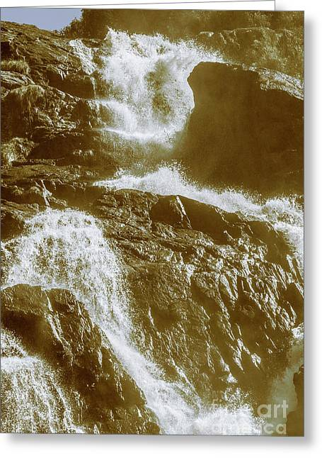 Rugged Water Rapids Greeting Card
