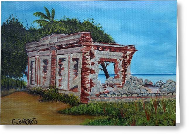 Ruinas Del Faro En Aguadilla Greeting Card