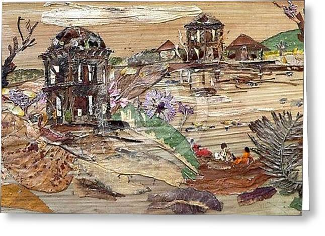 Ruined Structures  Greeting Card by Basant Soni